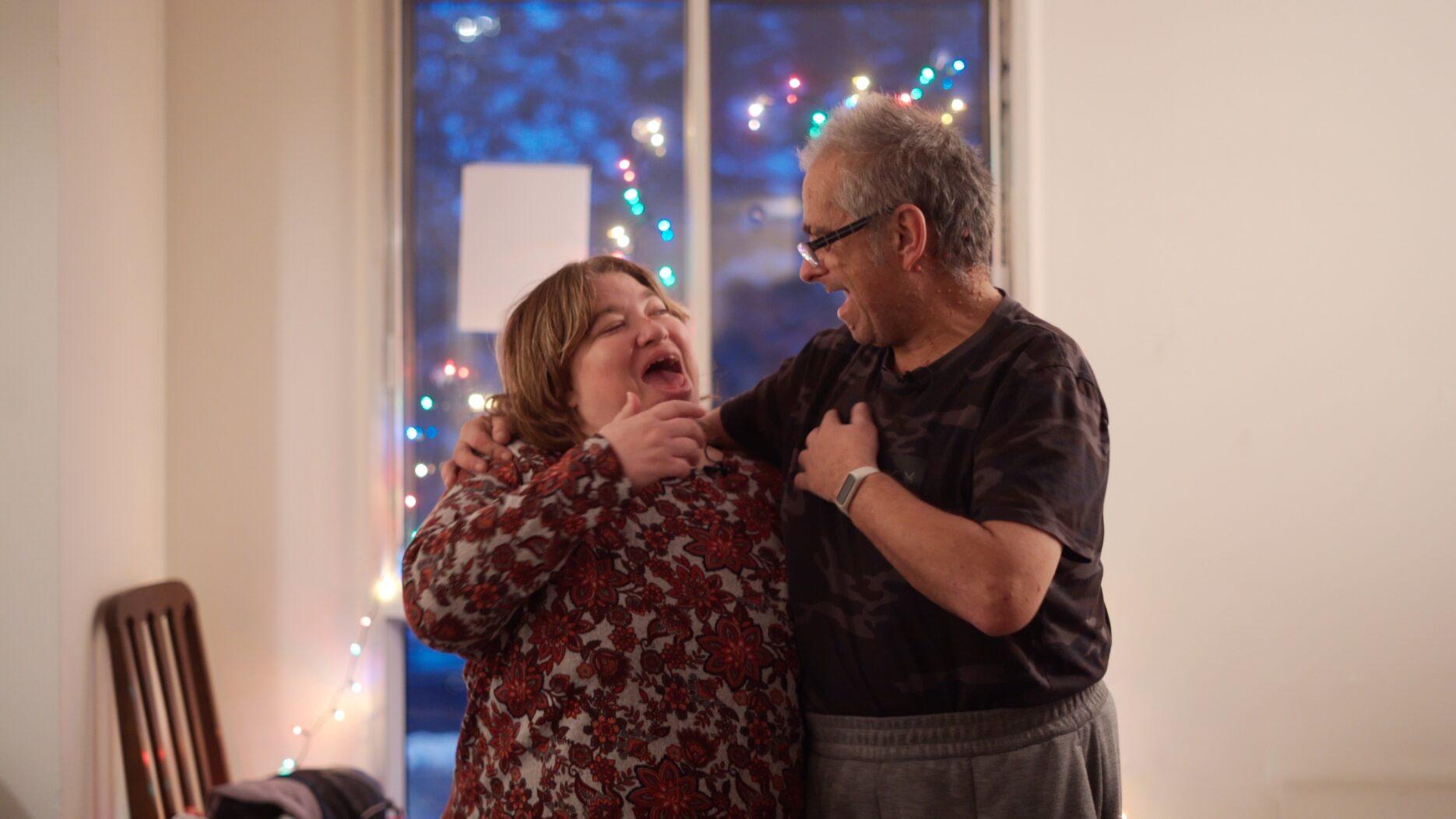 Middle Aged Couple Singing